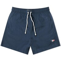 Maison Kitsune Tricolour Fox Swim Short Blue