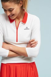 Anthropologie Adidas By Stella Mccartney Long Sleeved Tennis Top Red Motif