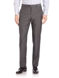 Armani Collezioni Classic Trousers Solid Medium Charcoal