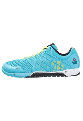 Reebok Crossfit Nano 4.0 Sports Shoes Neon Blue Stinger Yellow White Black Light Blue