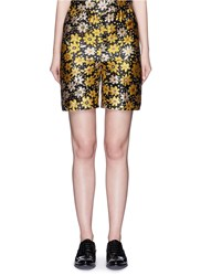 Chictopia Silk Blend Floral Jacquard Shorts Multi Colour