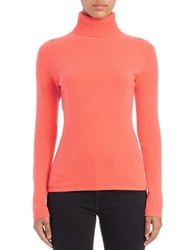 Lord And Taylor Cashmere Turtleneck Sweater Camellia