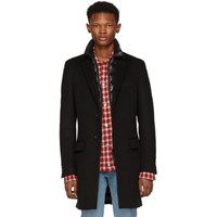 Mackage Black Wool Skai B Coat