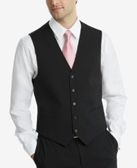 Tommy Hilfiger Men's Modern Fit Th Flex Stretch Suit Vest Black