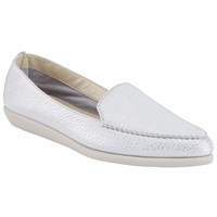 John Lewis Designed For Comfort Grainne Pointed Toe Loafers Silver