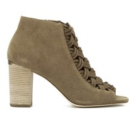 Michael Michael Kors Women's Westley Suede Heeled Ankle Boots Desert