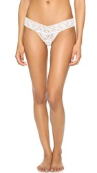 Hanky Panky New For The Bride Imitation Pearl Low Rise Thong Marshmallow