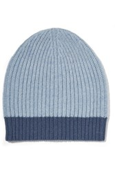 Duffy Ribbed Wool Blend Beanie Light Blue