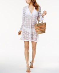Dotti Boho Mood Sheer Tunic Cover Up Women's Swimsuit White