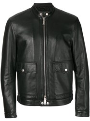Dsquared2 Cropped Zip Up Jacket Cotton Lamb Skin Polyester Black