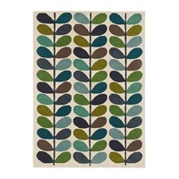 Orla Kiely Multi Stem Rug Kingfisher Blue