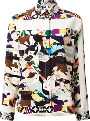 Msgm Graphic Bird Print Shirt