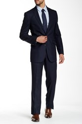 Kenneth Cole Reaction Navy Two Button Notch Lapel Suit Blue