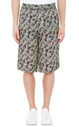 Acne Studios Botanical Print Long Shorts Green Size 52 Eu