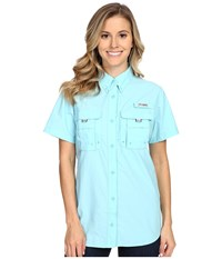 Columbia Bahama S S Shirt Clear Blue Women's Short Sleeve Button Up