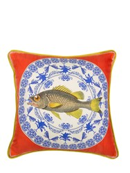 Bivain Plated Fish Printed Accent Pillow