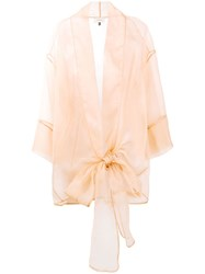 Murmur Sheer Oversized Bow Shirt Nude And Neutrals