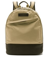Want Les Essentiels Kastrup Canvas And Leather Backpack Brown Multi