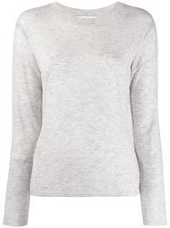 Vince Classic Long Sleeve Top Grey