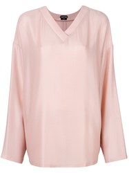 Tom Ford Lightweight V Neck Sweater Pink And Purple