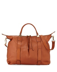 Joshua Leather Satchel Bag Cognac Kooba