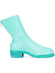Guidi Zipped Ankle Boots Green