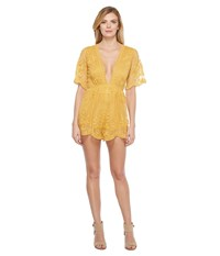 Brigitte Bailey Starsailor Lace Romper Chloe Yellow Women's Jumpsuit And Rompers One Piece