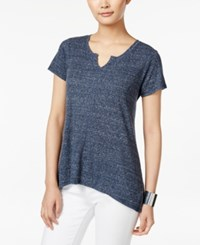Styleandco. Style And Co. Ribbed High Low T Shirt Only At Macy's