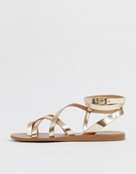 28a3159dcde1c5 Aldo Gludda Leather Strappy Sandal In Gold