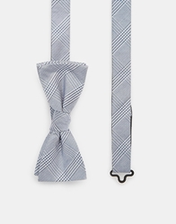 Selected Check Bow Tie Grey
