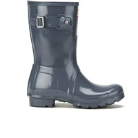 Hunter Women's Original Short Gloss Wellies Graphite Grey