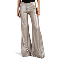 Kalmanovich Sequined Flared Pants Silver