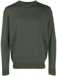 Paul And Shark Sweatshirt With Logo Patch Green