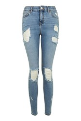 Topshop Moto Bleach Super Ripped Jamie Jeans Bleach
