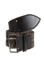Azzedine Alaia Leather Drops Belt Black