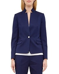 Ted Baker Textured Stand Collar Blazer Dark Blue