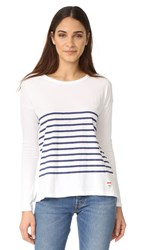 Sundry Stripes Long Sleeve White