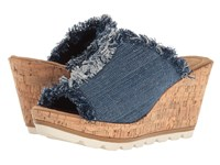 Minnetonka York Blue Denim Fabric Women's Wedge Shoes