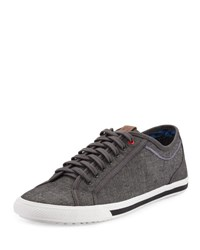 Ben Sherman Connallo Lace Up Fabric Sneaker Grey Chamb