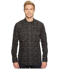 Rock And Roll Cowboy Print Long Sleeve Snap B2s5715 Black Long Sleeve Button Up