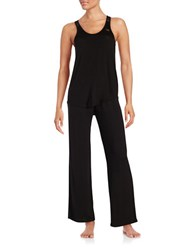 Betsey Johnson Knit Pajama Set Black