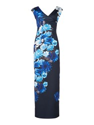 Jessica Wright Cap Sleeve Floral Split Maxi Multi Coloured Multi Coloured