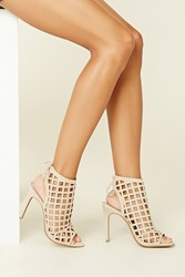 Forever 21 Geo Cutout Stiletto Booties