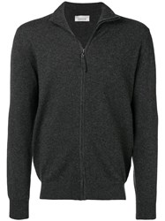Laneus Zip Front Cardigan Grey