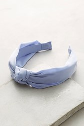 Anthropologie Knotted Chiffon Headband Sky