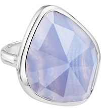 Monica Vinader Siren Sterling Silver And Blue Lace Agate Nugget Cocktail Ring
