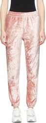 Nikelab Pink Velour Essentials Lounge Pants