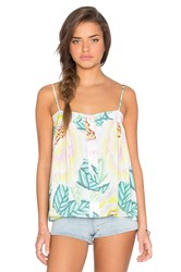 Mara Hoffman Button Front Tank Yellow