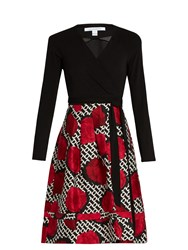 Diane Von Furstenberg Jewel Two Dress Red Multi