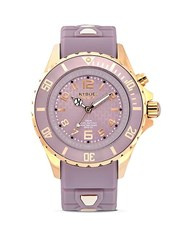 Kyboe Rose Goldtone Stainless Steel And Silicone Strap Watch Lavender